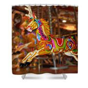 Carousel In Bournemouth Shower Curtain