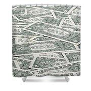 Carpet Of One Dollar Bills Shower Curtain