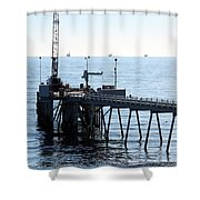 Carpinteria Pier Shower Curtain