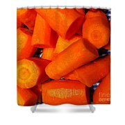 Carrots Ready To Cook Shower Curtain