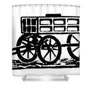 Cart, 19th Century Shower Curtain