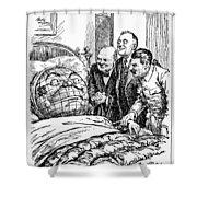 Cartoon: Big Three, 1945 Shower Curtain