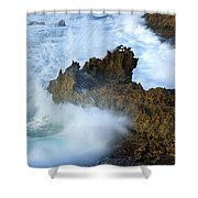 Carved By The Sea Shower Curtain