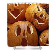 Carved Pumpkins Shower Curtain