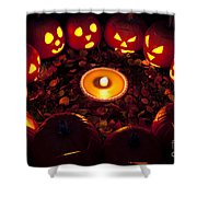 Pumpkin Seance With Pumpkin Pie Shower Curtain