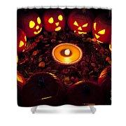Pumpkin Seance With Pumpkin Pie Shower Curtain