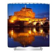 Castel Sant Angelo Shower Curtain by Brian Jannsen