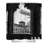 Castello Visconteo Shower Curtain