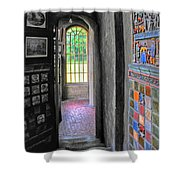 Castle Passageway Shower Curtain