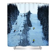 Cat Skiing At Fortress Mountain Shower Curtain