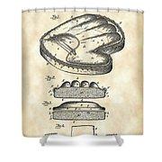 Catcher's Glove Patent 1891 - Vintage Shower Curtain