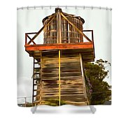 Cayucos Wind Farm Shower Curtain