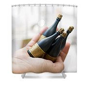 Celebration Champaign Bubbles Shower Curtain