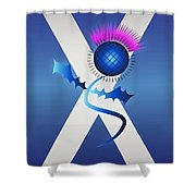 Celtic Thistle Shower Curtain