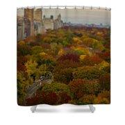 Central Park In Autumn Shower Curtain