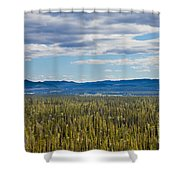 Central Yukon T Canada Taiga And Ogilvie Mountains Shower Curtain