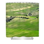 Cereal Fields From The Air Shower Curtain