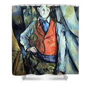Cezanne's Boy In Red Waistcoat Shower Curtain