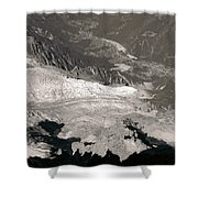 Chamonix From Above Shower Curtain