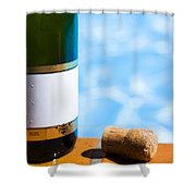 Champagne Bottle And Cork Shower Curtain