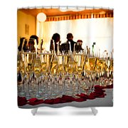 Champagne Glasses At The Party Shower Curtain
