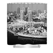 Channel District Tampa Florida Shower Curtain