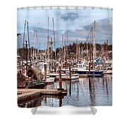Charleston Marina Fishing Boats Shower Curtain