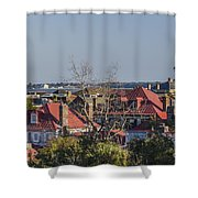 Charleston Rooftops Shower Curtain