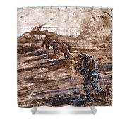 Charlie Mike Shower Curtain