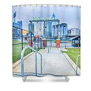 Charlotte Ballpark Shower Curtain