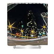 Charlotte Nc Usa - Nightlife Around Charlotte Shower Curtain