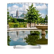 Charlotte North Carolina View From Greenway Shower Curtain