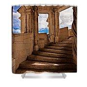 Chateau De Blois Staircase / Loire Valley Shower Curtain