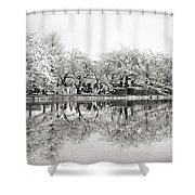 Cherry Blossoms In Tokyo Shower Curtain