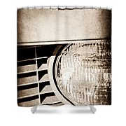 Chevrolet Camaro Headlight Emblem Shower Curtain