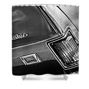 Chevrolet El Camino Taillight Emblem Shower Curtain