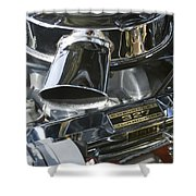 Chevrolet Engine Shower Curtain