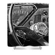 Chevrolet Steering Wheel Emblem Shower Curtain