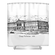 Chicago Art Institute - 1879 Shower Curtain