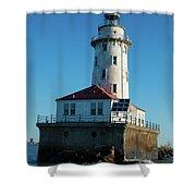 Chicago Harbor Lighthouse Shower Curtain