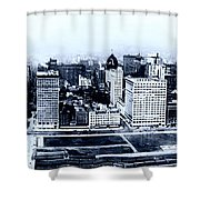 Chicago Panorama 1915 Shower Curtain