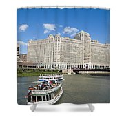 Chicago River Bend Shower Curtain