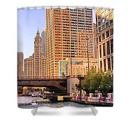 Chicago River Reflections Shower Curtain