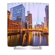 Chicago River View Shower Curtain