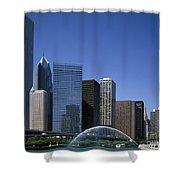 Chicago Skyline Shower Curtain by Rafael Macia