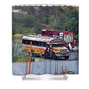 Chicken Bus In El Tizate Shower Curtain