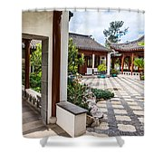 Chinese Courtyard Shower Curtain