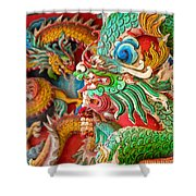Chinese Temple Detail Shower Curtain