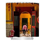 Chinese Temple In Ho Chi Minh Vietnam Shower Curtain