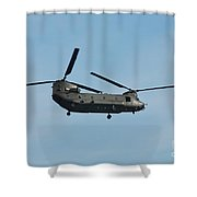 Chinook Hc2 Helicopter Shower Curtain
